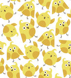 Cute seamless pattern with birds. Simple retro flat design for kids. Vector illustration Royalty Free Stock Images
