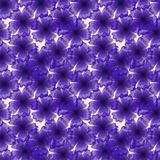 Cute seamless pattern of blue flowers.  Stock Photo
