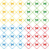 Cute seamless pattern with bows Royalty Free Stock Photography