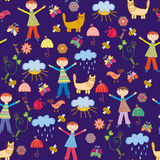 Cute seamless pattern with boys Royalty Free Stock Image