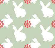 Cute seamless pattern with bunnies Stock Photo