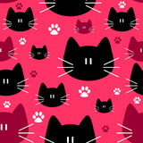 Cute seamless pattern with cats Royalty Free Stock Images