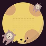 Cute seamless pattern with cats in the space. Stock Photography