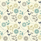 Cute seamless pattern with chamomile flowers and leaves. Can be used for wallpapers, surface textures, textile,linen, tile, kids cloth, pattern fills, page Royalty Free Stock Images