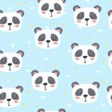 Cute seamless pattern for children with funny panda. Smile characters Royalty Free Stock Photography