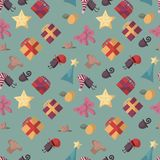 Cute seamless pattern with Christmas decorations. stock illustration