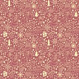 Cute seamless pattern with Christmas elements.EPS10 Stock Photography