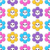 Cute seamless pattern with colorful flowers Royalty Free Stock Images