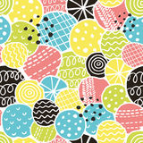 Cute seamless pattern with decorative rounds Royalty Free Stock Photography