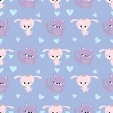 Cute seamless pattern with dogs royalty free illustration