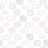 Cute seamless pattern with donuts Royalty Free Stock Photos