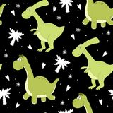 Cute seamless pattern with funny dinosaurs. vector illustration. Cute seamless pattern with funny dinosaurs. vector illustration Stock Images