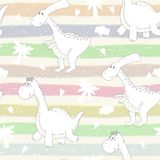 Cute seamless pattern with funny dinosaurs. vector illustration. Cute seamless pattern with funny dinosaurs. vector illustration Stock Photos
