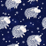 Cute seamless pattern with funny sheep. vector illustration Stock Image