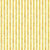 Cute seamless pattern of golden glitter stripes Stock Photography