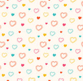 Cute  seamless pattern with hearts Stock Photo