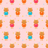 Cute seamless pattern with little tigers. Children background. Funny animals Royalty Free Stock Photos