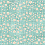 Cute seamless pattern with many repeating cherry flowers vector illustration