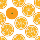 Cute seamless pattern with orange slices Royalty Free Stock Photography