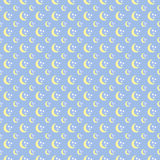 Cute seamless pattern with pastel moon and stars. Cute seamless pattern with pastel colorful moon and stars vector illustration