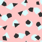 Cute seamless pattern with repetitive geometric shapes. Simple girly print. stock illustration