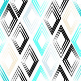 Cute  seamless pattern . Rhombuses, brush strokes.  Endless texture can be used for printing onto fabric or paper Stock Images