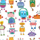 Cute seamless pattern. Seamless Robot pattern,cartoon vector illustration Stock Images