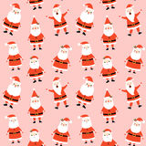 Cute seamless pattern with Santa Claus Stock Image