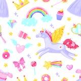 Cute seamless pattern vector illustration