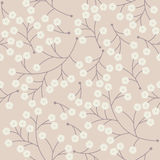 Cute seamless pattern with small flowers on pink background Stock Photography