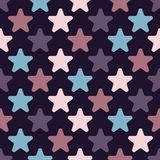 Cute seamless pattern with stars. royalty free illustration