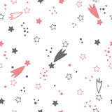 Cute seamless pattern with stars. Space background Royalty Free Stock Image