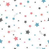 Cute seamless pattern with stars Stock Images