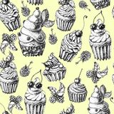 Cute seamless pattern sweet Cake Royalty Free Stock Images