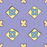 Cute seamless pattern. Seamless  tile of a hand drawn clothes pattern Royalty Free Stock Image