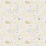 Cute seamless pattern with underwater live eps 10 Royalty Free Stock Photography