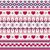 Cute seamless pattern for Valentine `s Day. Seamless vector pattern with hearts and abstract figures. Wrapping paper for Valentine`s Day Royalty Free Stock Photos