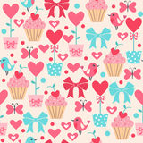 Cute seamless pattern for Valentine's Day or Wedding. Stock Image