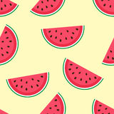 Cute seamless pattern with watermelon Royalty Free Stock Photos