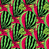 Cute seamless  pattern with watermelons. Cute seamless  pattern with red watermelons Royalty Free Stock Photography