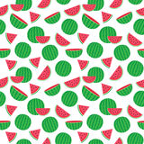 Cute seamless pattern with watermelons Royalty Free Stock Images
