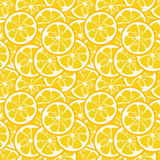 Cute Seamless Pattern With Yellow Lemon Slices Royalty Free Stock Photography