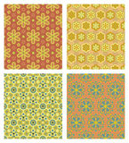 Cute seamless patterns. Four different cute seamless patterns Stock Photography