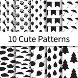 Cute seamless patterns Stock Image