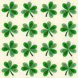Cute seamless shamrock clover pattern,  Royalty Free Stock Photo