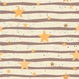 Cute Seamless Star Pattern Royalty Free Stock Images