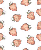 Cute seamless strawberry pattern Royalty Free Stock Photography