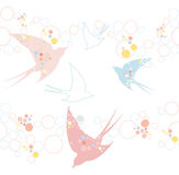 Cute seamless swallow pattern Royalty Free Stock Photos