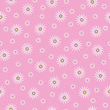 Cute seamless texture  with chamomiles. Seamless texture with chamomiles on a pink background Royalty Free Stock Photo