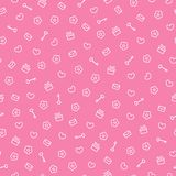 Cute seamless valentine pattern Royalty Free Stock Image